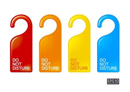 color do not disturb  Vector
