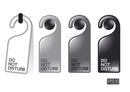 do not disturb sign: do not disturb  Illustration