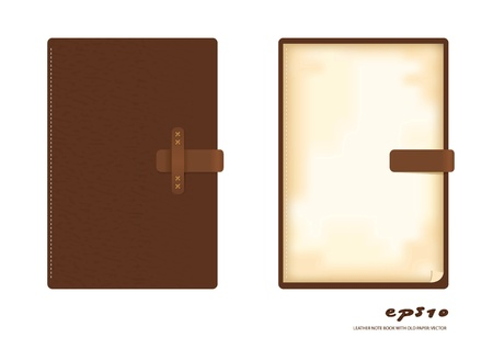 writing pad: brown leather note book