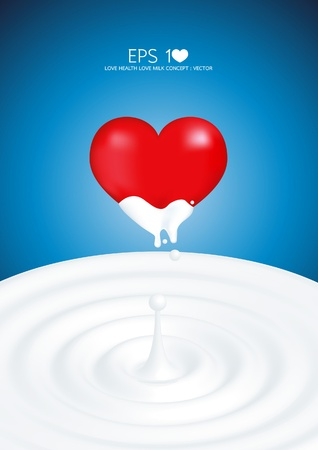 love healthy love milk Vector