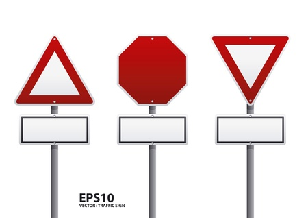 traffic pole: red traffic sign