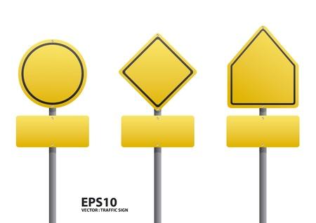 señal de tráfico en blanco