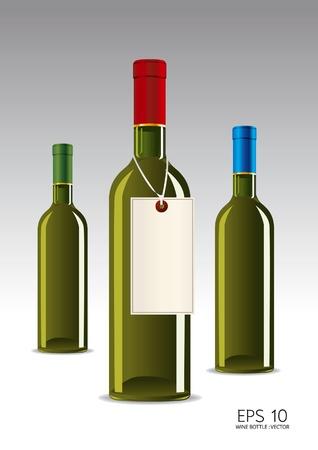 unlabeled: glass bottle of wine