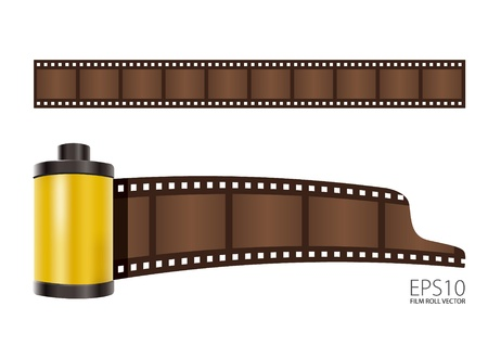roll film: rollo de pel�cula de color amarillo Vectores