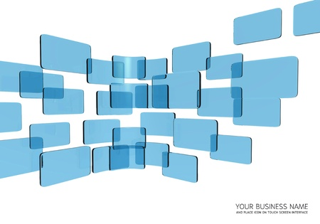 touch screen interface blue glass Stock Photo - 11422926