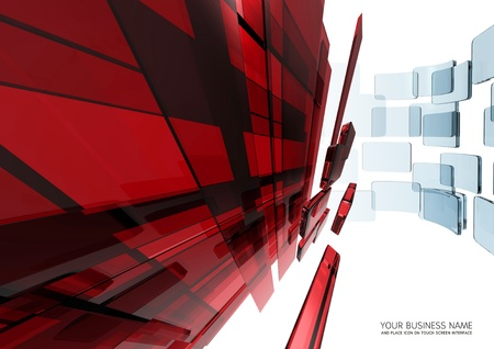abstract touch screen interface Red glass background Stock Photo - 11422951