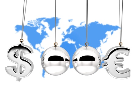 lower value: Balancing balls 3d Concep currency rates duel