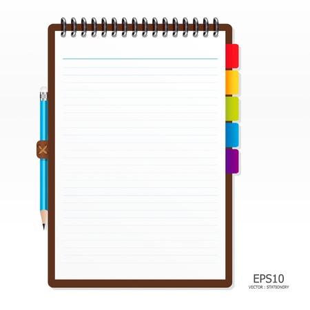 수첩: 연필로 종이에주의
