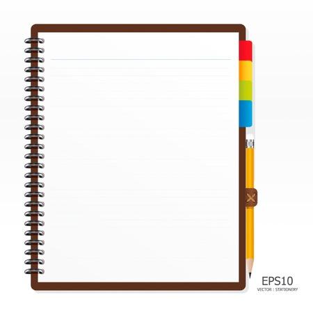 note de service: papier � lettres avec un crayon