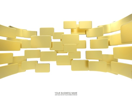 gold  interface background Stock Photo - 11657801