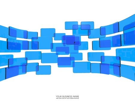 touch screen interface blue glass Stock Photo - 11657798