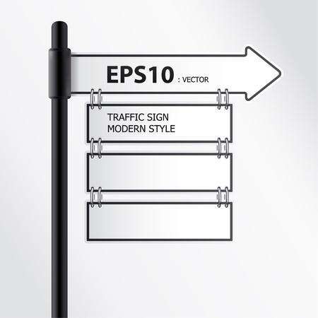 modern traffic sign vector Stock Vector - 11657832