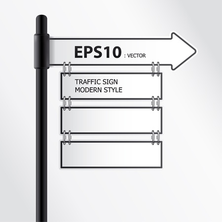 anywhere:  modern traffic sign vector Illustration