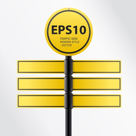 vector modern yellow traffic sign  Stock Vector - 11657821