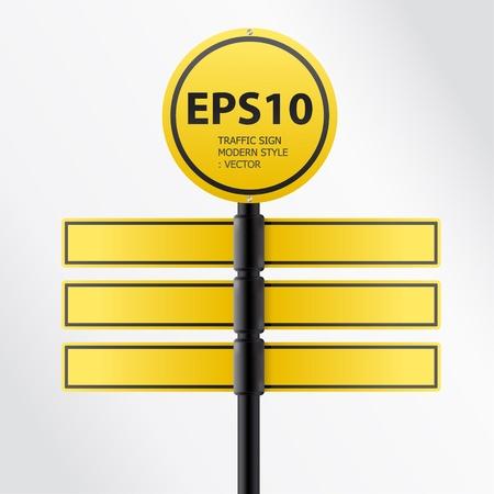 vector modern yellow traffic sign Stock Vector - 11657821