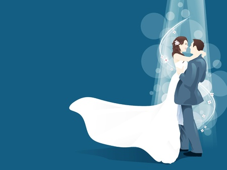 wedding couples love vector Stock Vector - 11842225