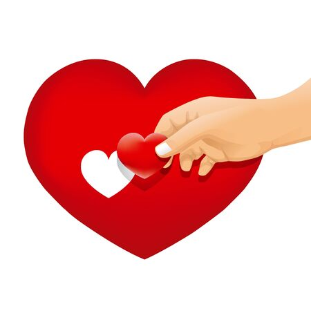 hand with love concept vector Vector