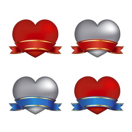 heart with ribbon Stock Vector - 11842209