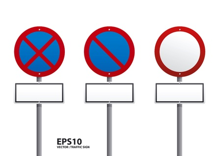 red traffic sign vector Vector