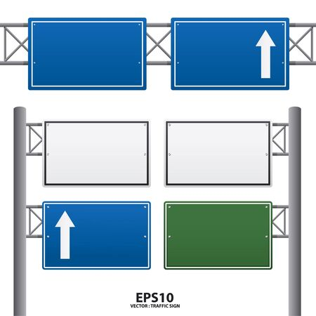 anywhere: traffic sign blue color vector