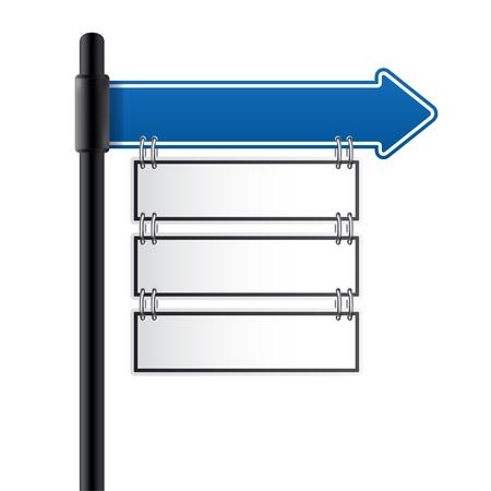 uithangbord: verkeersbord blauwe kleur