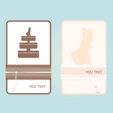 Wedding card vector Vector
