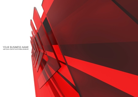 abstract touch screen interface Red glass background Stock Photo - 12552253