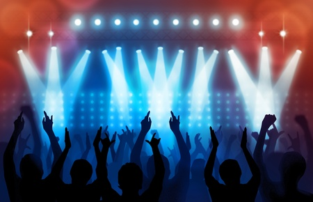 rock star: light in concert Stock Photo