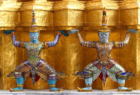 Guardian at Wat Phra Kaew Grand Palace Bangkok  photo