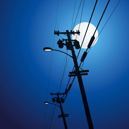 metal pole: Electricity post vector Illustration