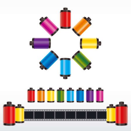 film roll color vector Vector
