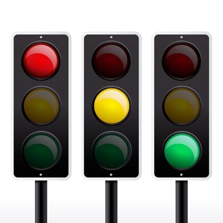 Isolated traffic light vector Stock Vector - 12497798