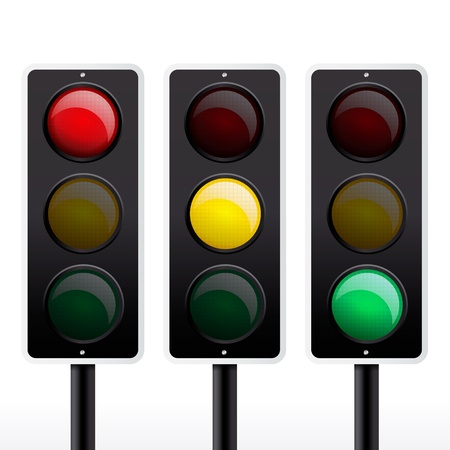 signal: Isolated traffic light vector