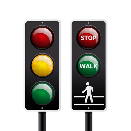 Isolated traffic light vector Stock Vector - 12497794