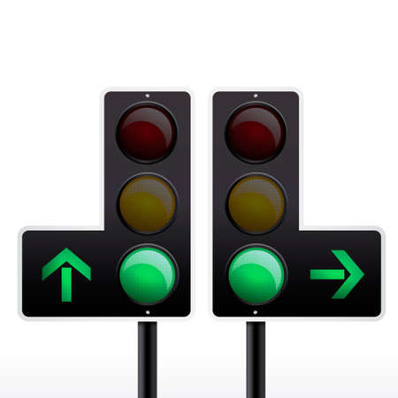 Isolated traffic light vector Vector