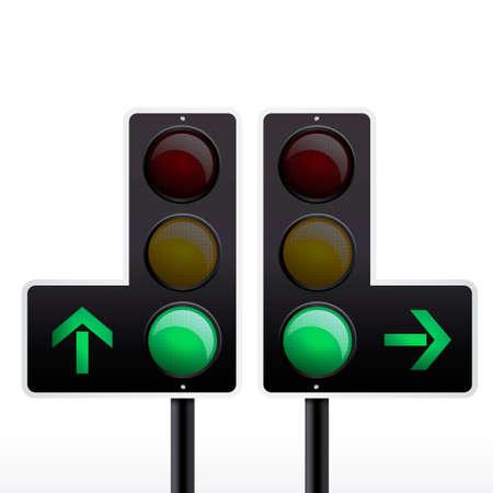 semaphore: Isolated traffic light vector