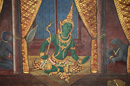 thai art painting on the wall, grand palace, thailand  Stock Photo - 12817891