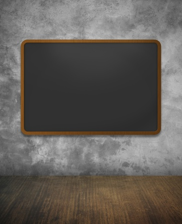 concrete wall texture with Blackboard photo