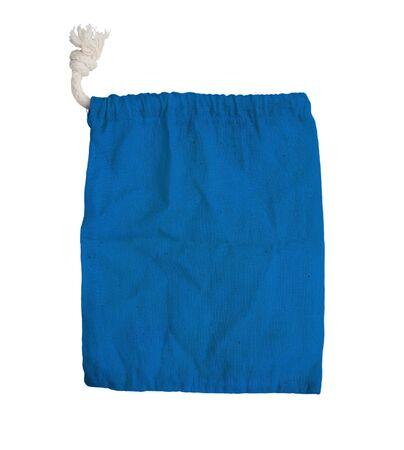 blue fabric bag on white isolated background   photo