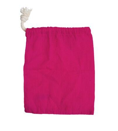 pink fabric bag on white isolated background   photo