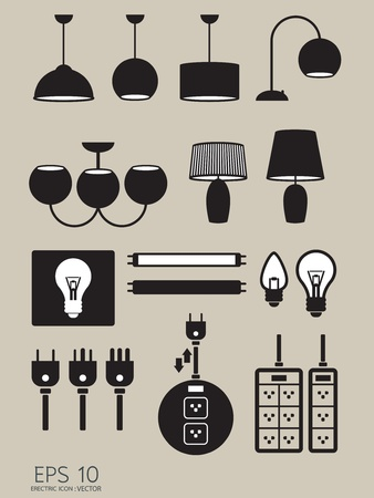 converter: electric icons vector