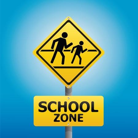 TRAFFIC Sign School warning