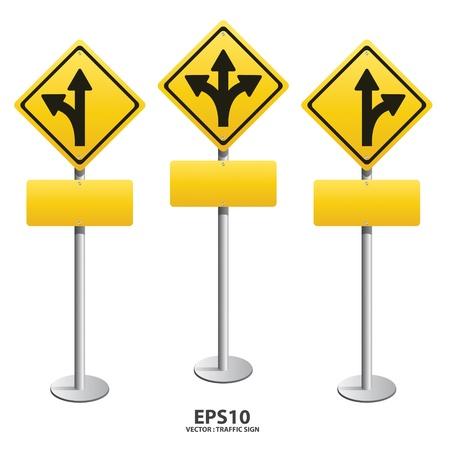 고속도로: 벡터 표지판 바로 좌회전, 우회전