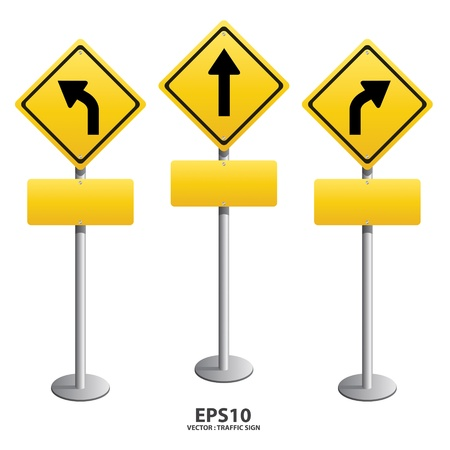 warning signs: Signs straight sign Illustration