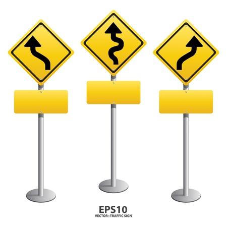 roadsigns: vector traffic sign Zigzag