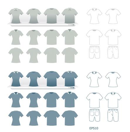 blank t shirt: tshirts fashion set vector