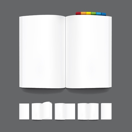 book blank page template for design.Vector Vector