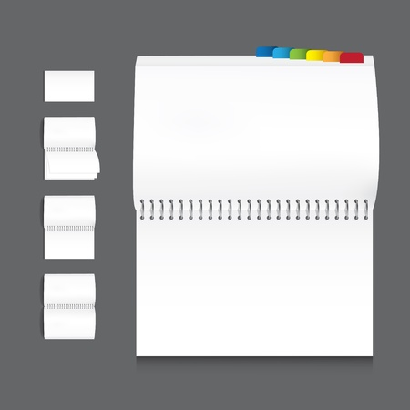 hard cover: collection of book blank white paper on white background