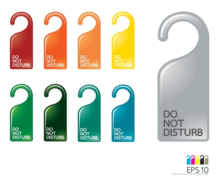 Door knob or hanger sign - do not disturb vector Vector