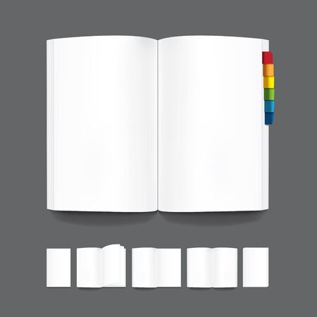 blank book: book blank page template for design Vector
